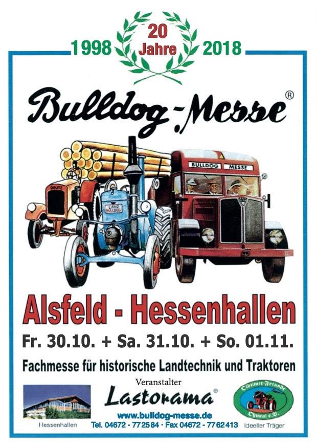 ABGESAGT Bulldog-Messe Alsfeld 30.10-01.11.2020
