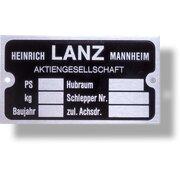 Firmenschild, Typenschild (Alu, Vorkrieg), 6 Felder