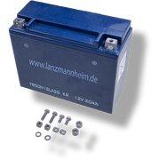 Batterie 12 Volt, 20Ah, zur Montage an Armaturenwand