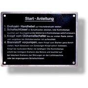 Bedienungsschild für Druckknopfstarter (Startanleitung),...