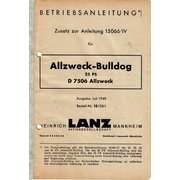 Betriebsanleitung Zusatz zur Anleitung 15066/IV