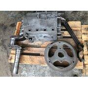 Cylinder, crankshaft, connecting rod, clutch flywheel