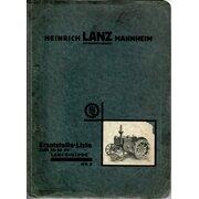 Ersatzteilliste für Lanz 15/30 PS LANZ-Bulldog (HR 5)