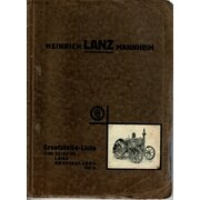Ersatzteilliste für Lanz 22/28PS LANZ-Grossbulldog (HR II)