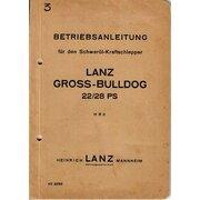 Betriebsanleitung für Lanz 22/28PS LANZ-Grossbulldog (HR II)